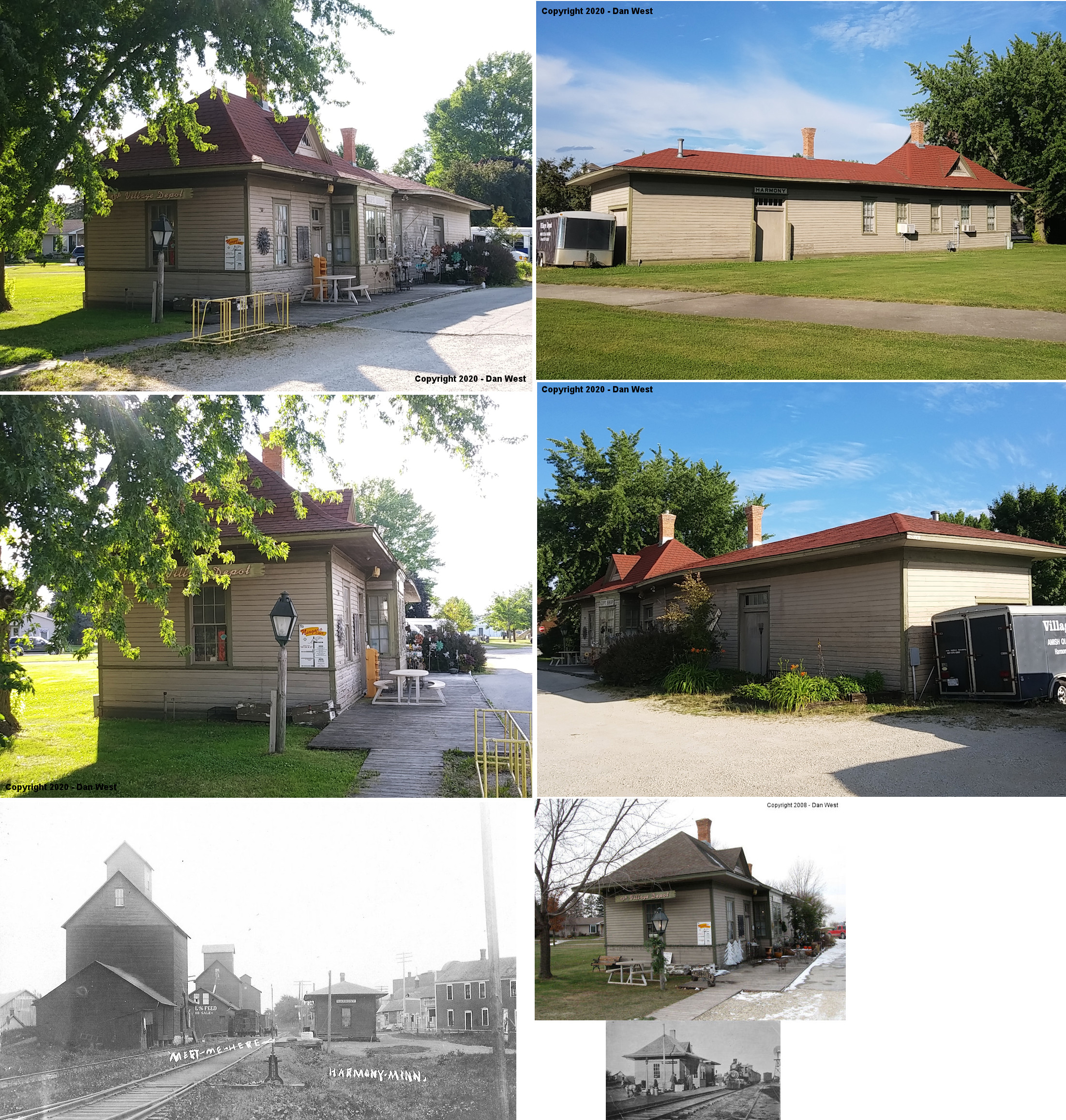 Fillmore County Minnesota Railroad Stations