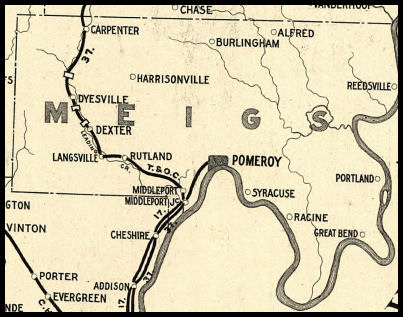 Meigs County Ohio Railroad Stations