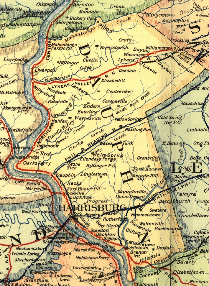 Dauphin County Pennsylvania Railroad Stations - Dauphin county on us map