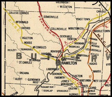 Butler County Ohio Railroad Stations