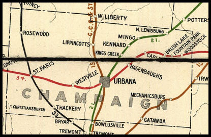 Mechanicsburg Ohio Map.Champaign County Ohio Railroad Stations