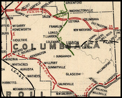 Columbiana County Ohio Railroad Stations