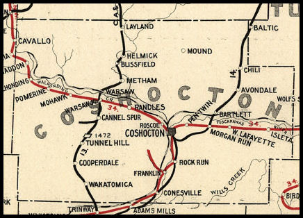 Coshocton County Ohio Railroad Stations
