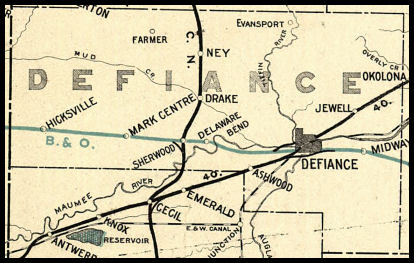 Defiance County Ohio Railroad Stations