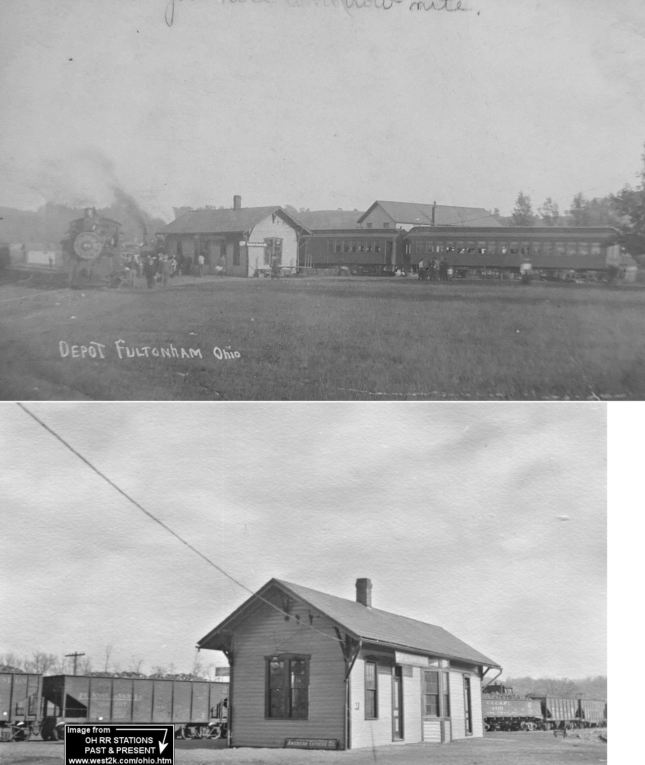 Muskingum County Ohio Railroad Stations