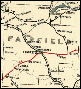 Fairfield County Ohio Railroad Stations