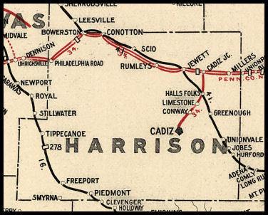 Harrison County Ohio Railroad Stations