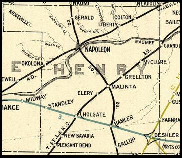 Deshler Ohio Map.Henry County Ohio Railroad Stations