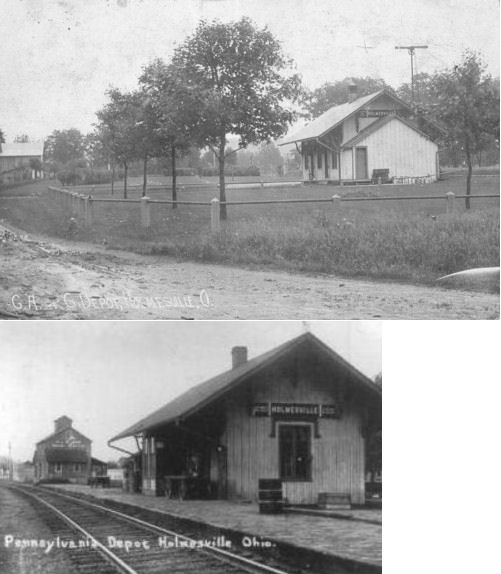 Holmes County Ohio Railroad Stations