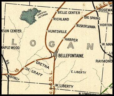 Logan County Ohio Railroad Stations