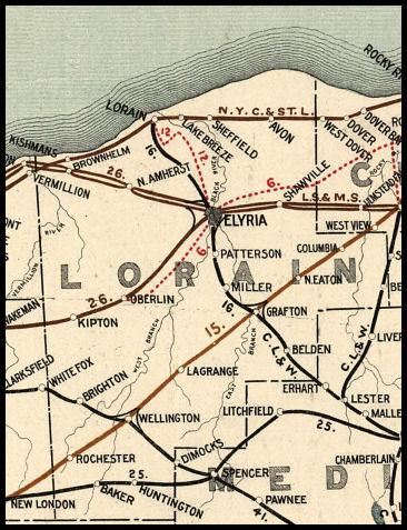 Lorain County Ohio Railroad Stations