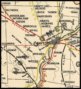 Montgomery County Ohio Railroad Stations