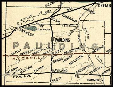 Paulding County Ohio Railroad Stations