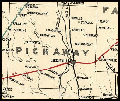 Pickaway County Ohio Railroad Stations