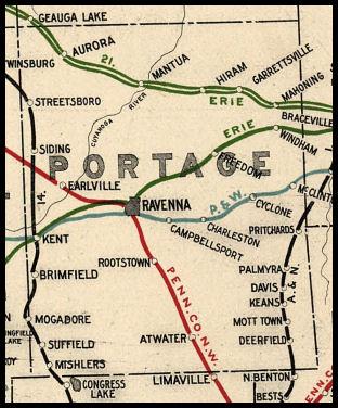 Portage County Ohio Railroad Stations
