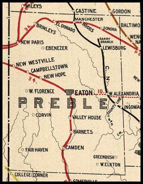 Lewisburg Ohio Map.Preble County Ohio Railroad Stations