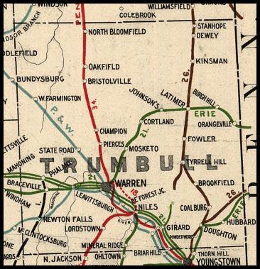 Trumbull County Ohio Railroad Stations