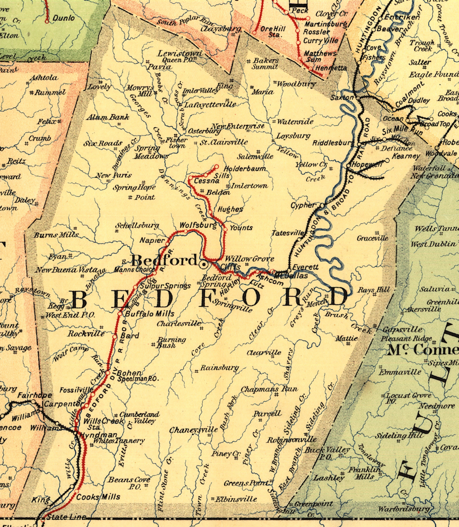 Bedford County Pennsylvania Railroad Stations on underground wells map, underground roads map, underground trains map, underground government facilities map, underground homes map, frederick douglass map,