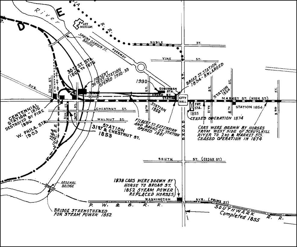 Philadelphia County Pennsylvania Railroad Stations - Philly train map
