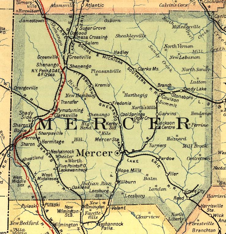Mercer County Pennsylvania Railroad Stations